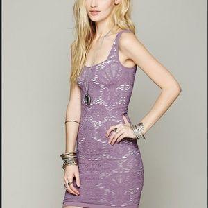 Free People bodycon purple dress